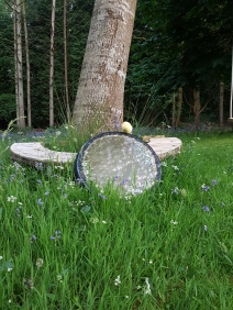 Gong by tree
