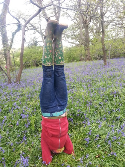 Headstand bluebells