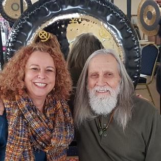Lara with gong master