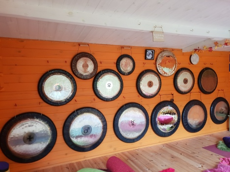 Gongs-on-wall