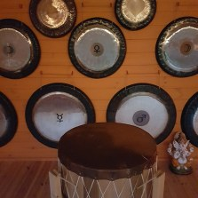 Gongs-on-wall+drum